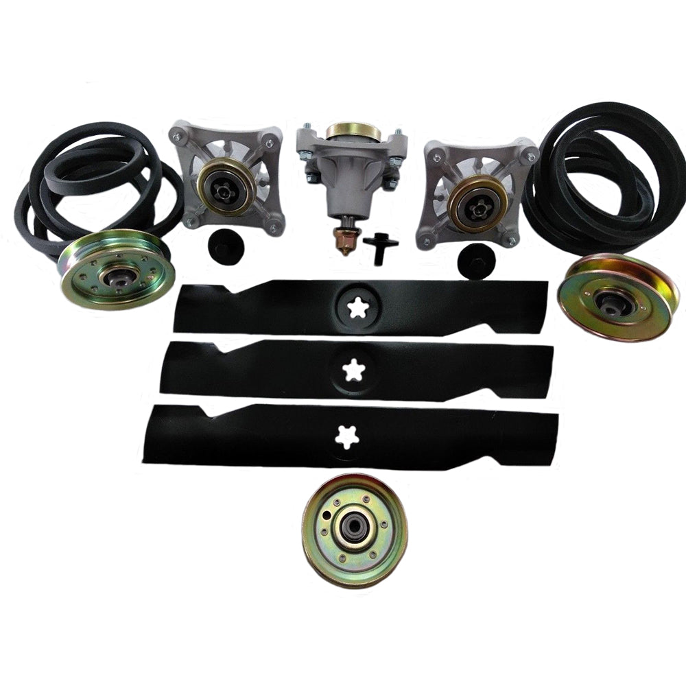 11014-BELTSBLADES&PULLEYS Lawn Mower Deck Rebuild Kit