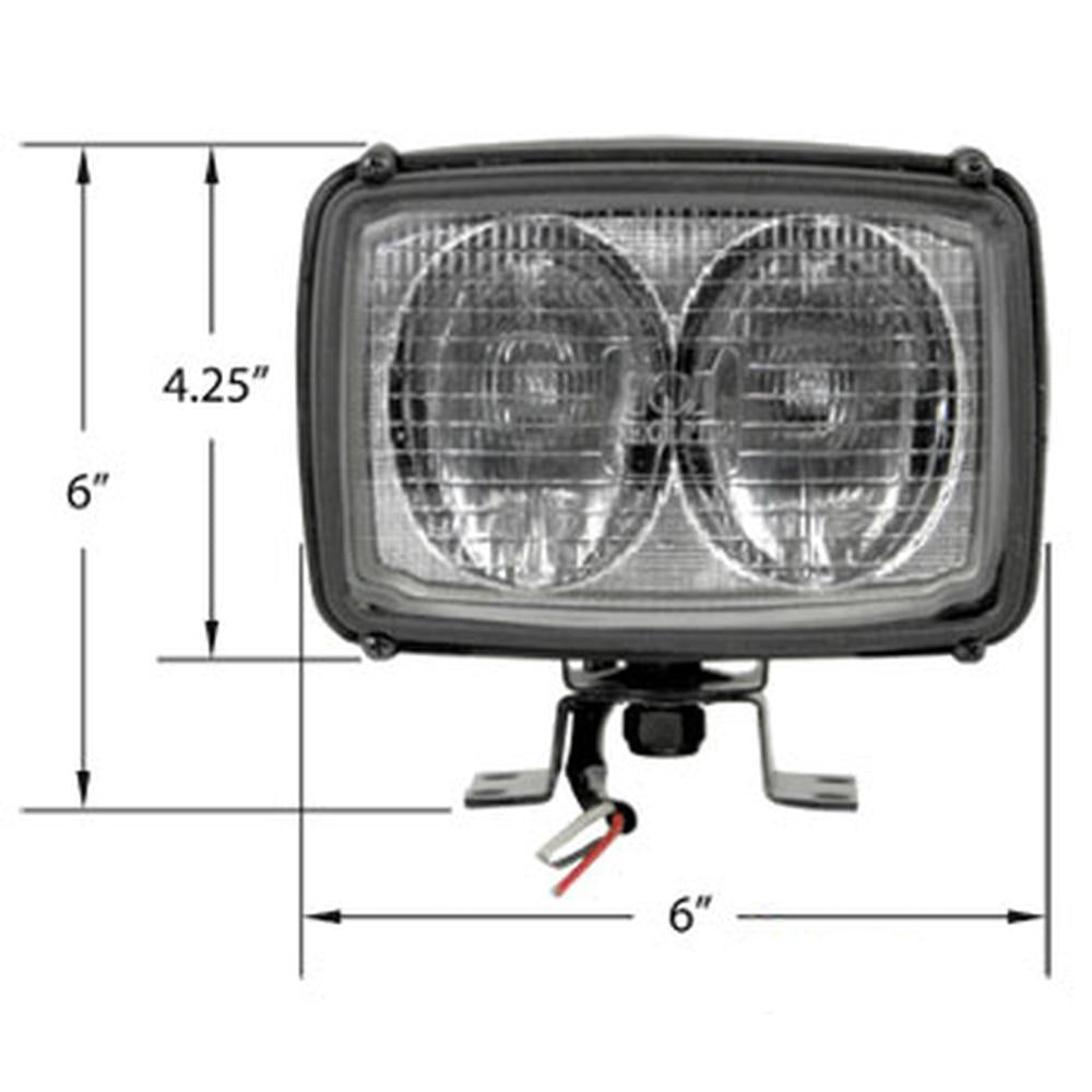 28A609 Trapezoid Halogen Lamp Assembly