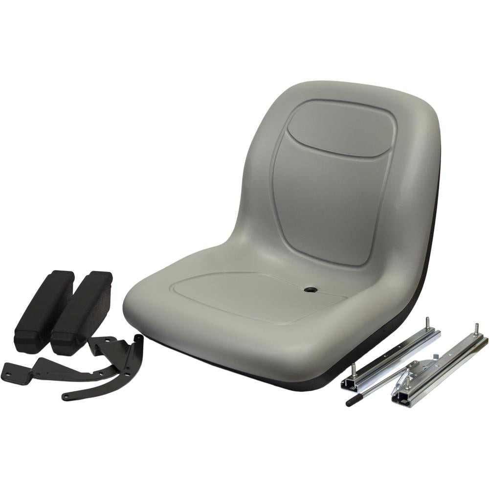 7806-PIH127 Gray Seat with Slide Rails & Arms