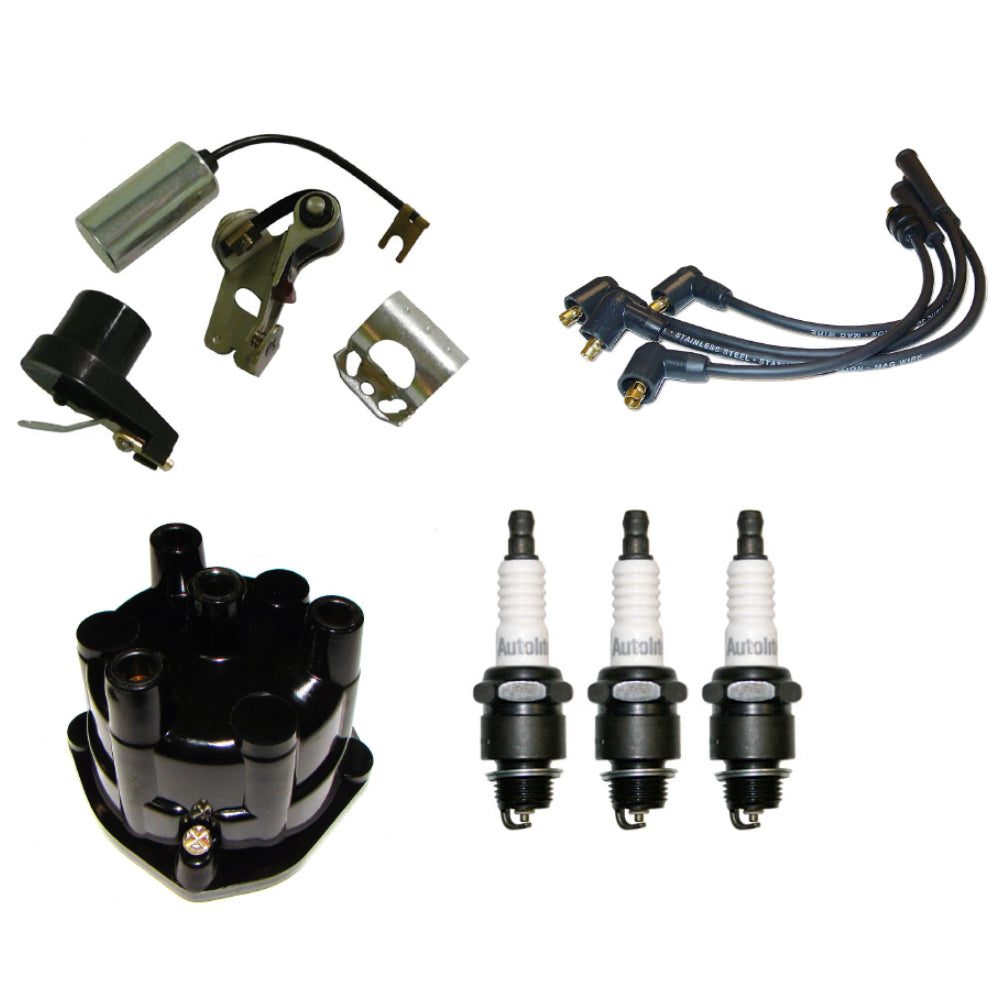 839008M91-COMPLETE-KIT Points, Condenser, Rotor, Cap, & Spark Plugs/Wires