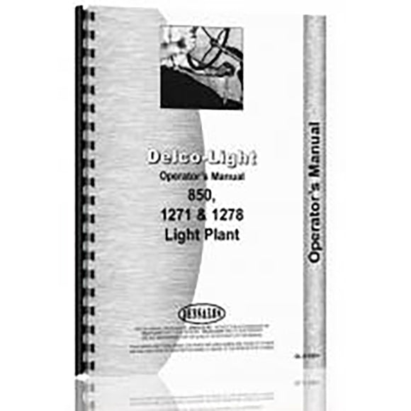 RAP70879 Operators Manual