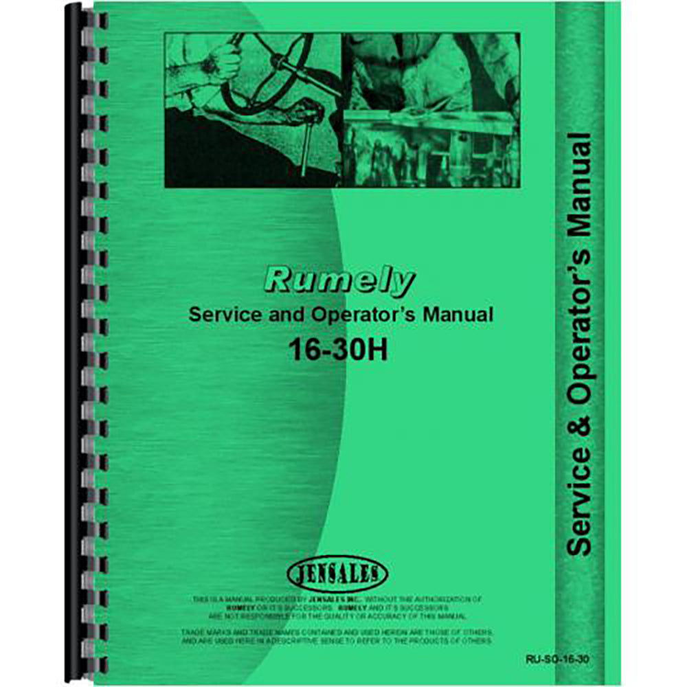 RAP81671 Service & Operators Manual
