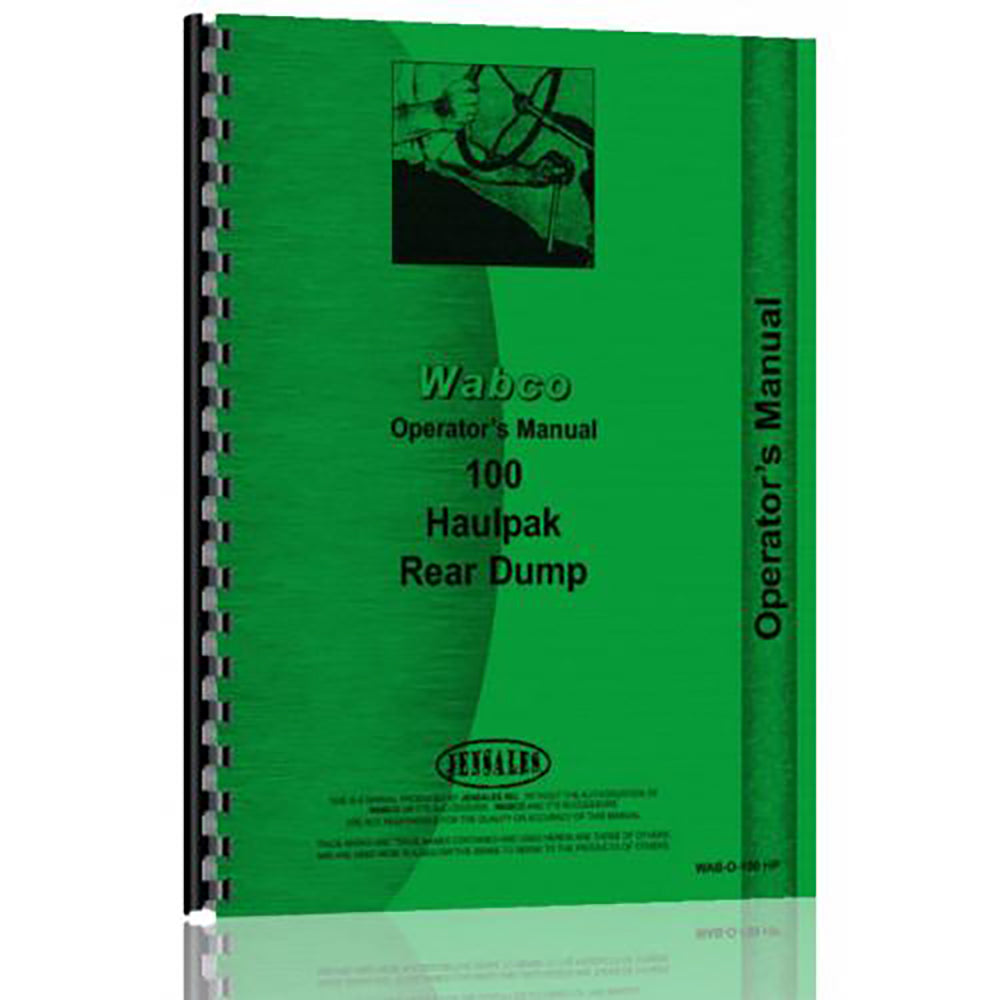 RAP82417 Operators Manual