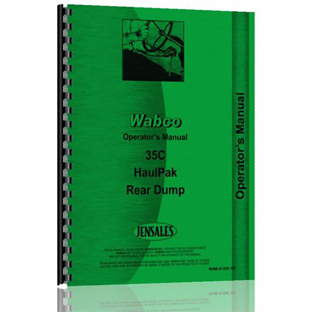 RAP82427 Operators Manual