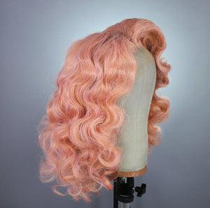 Drag Queen Wig, Pink , Rose Gold