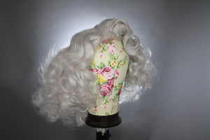 Drag Queen Wig, Light Silver Gray Marilyn Monroe Short Curly Wig  - Drag Queen, Cosplay
