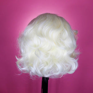 Drag Queen Wig, Platinum Blonde, Marilyn Monroe Wig