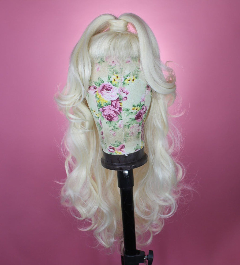 Drag Queen Wig, Platinum , Top Knot