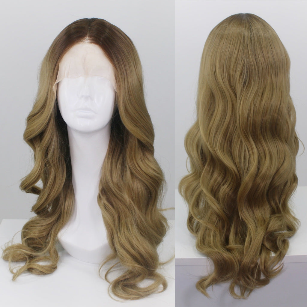 Demi Rooted Golden Blonde Lace Front Wig