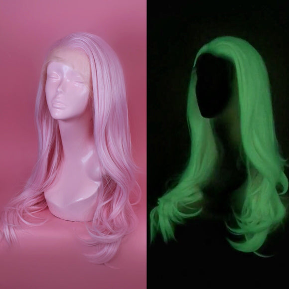 Charlotte *Glow in the Dark* Pastel Pink Lace Front Wig