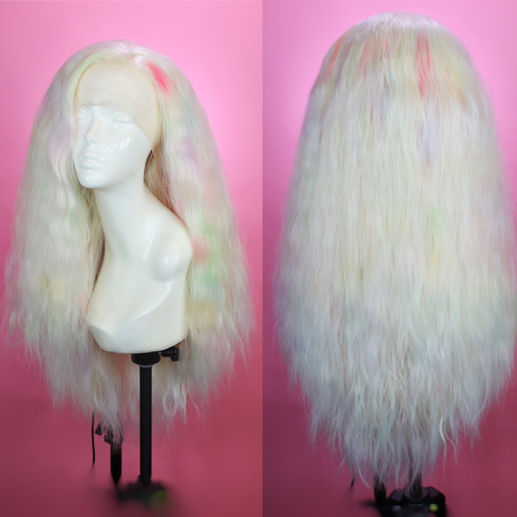 Jaclyn Platinum Blonde Rainbow Prism Lace Front Wig