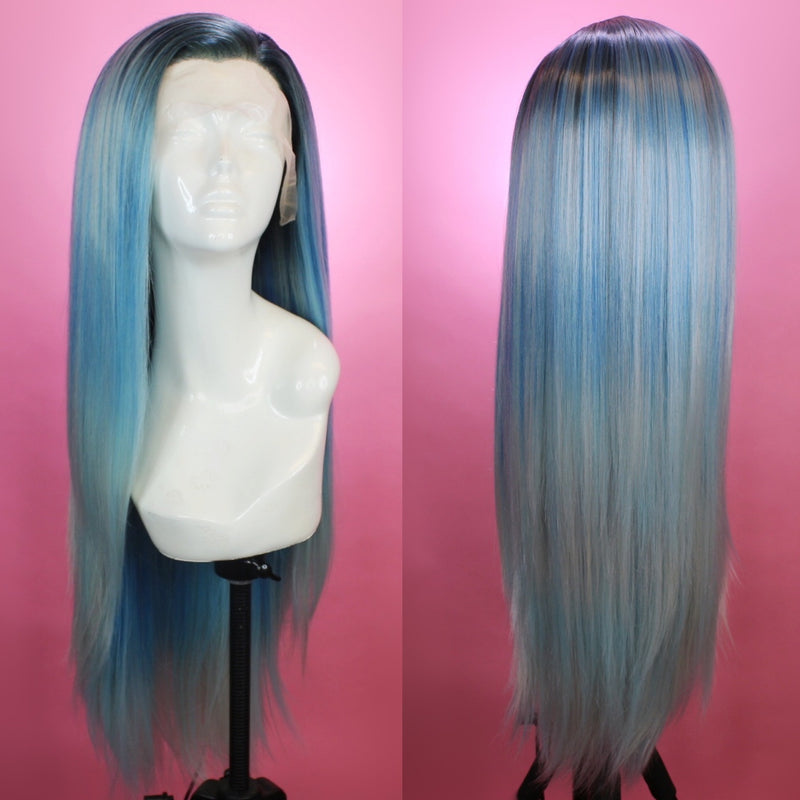 Charlotte Ocean Blue Lace Front Wig