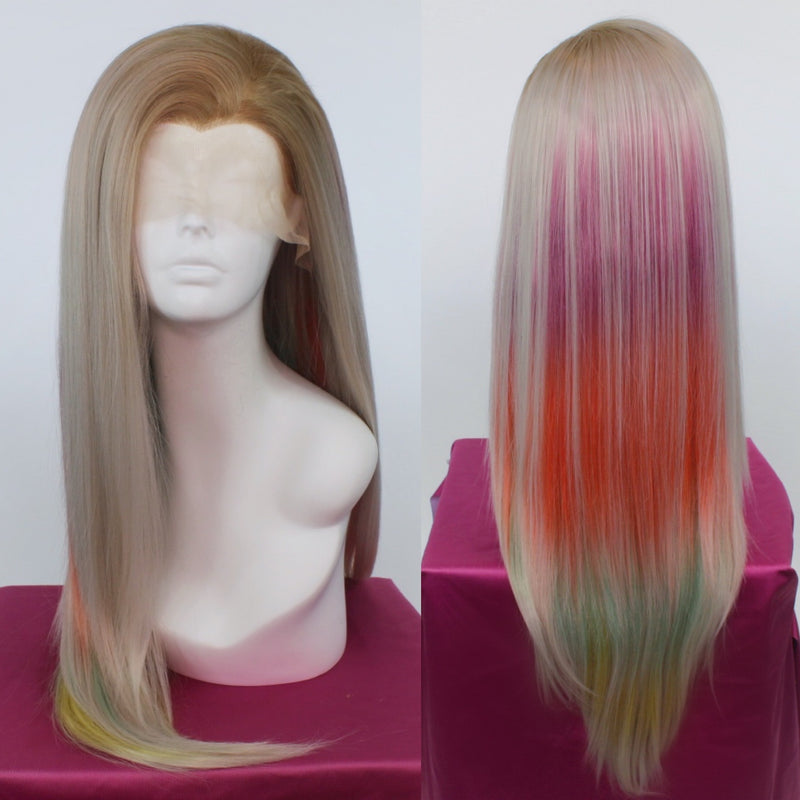 Charlotte Rainbow and Silver Lace Front Wig