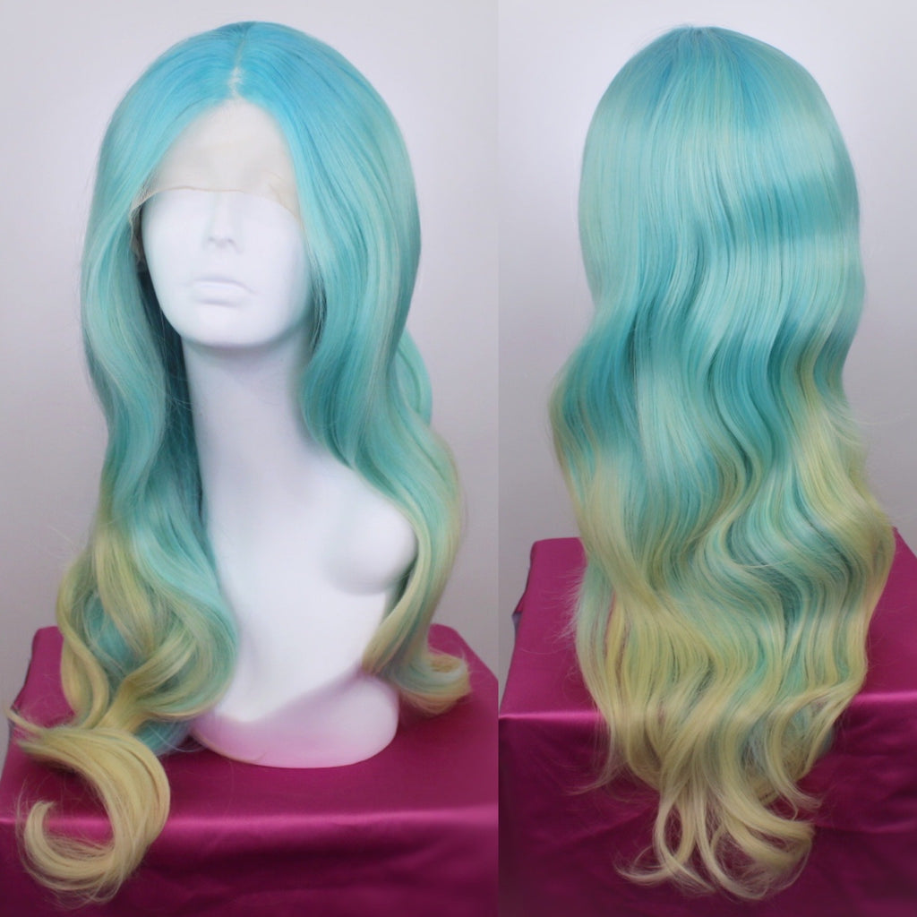 Stephanie Seafoam Green Ombré Lace Front Wig