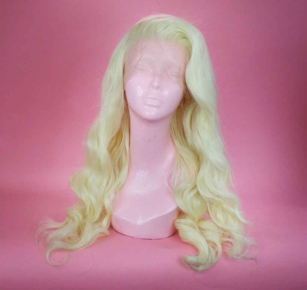 Faye Platinum Blonde Lace Front Wig