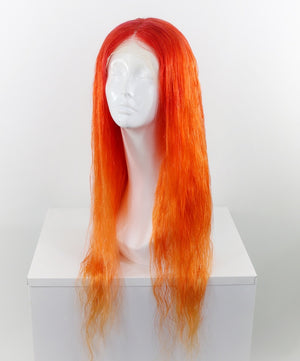Orange Ombre Custom Dyed Human Hair Lace Front Wig