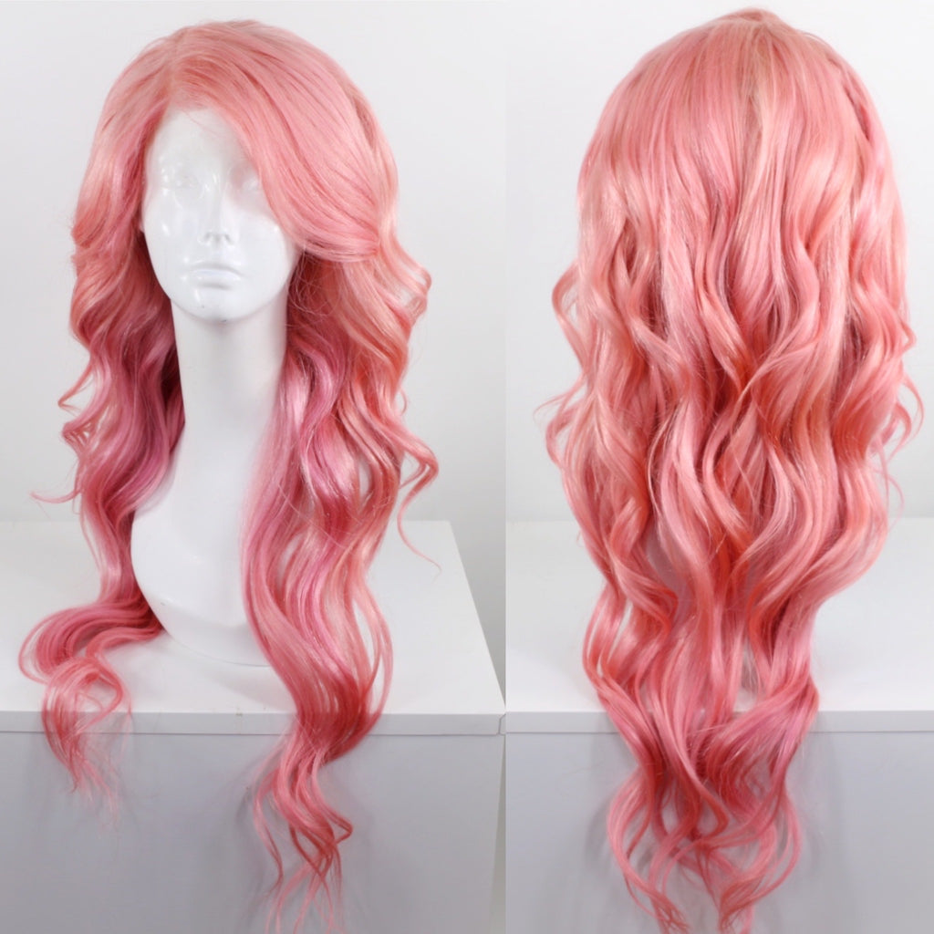 Pastel Pink Custom Dyed Human Hair Lace Front Wig