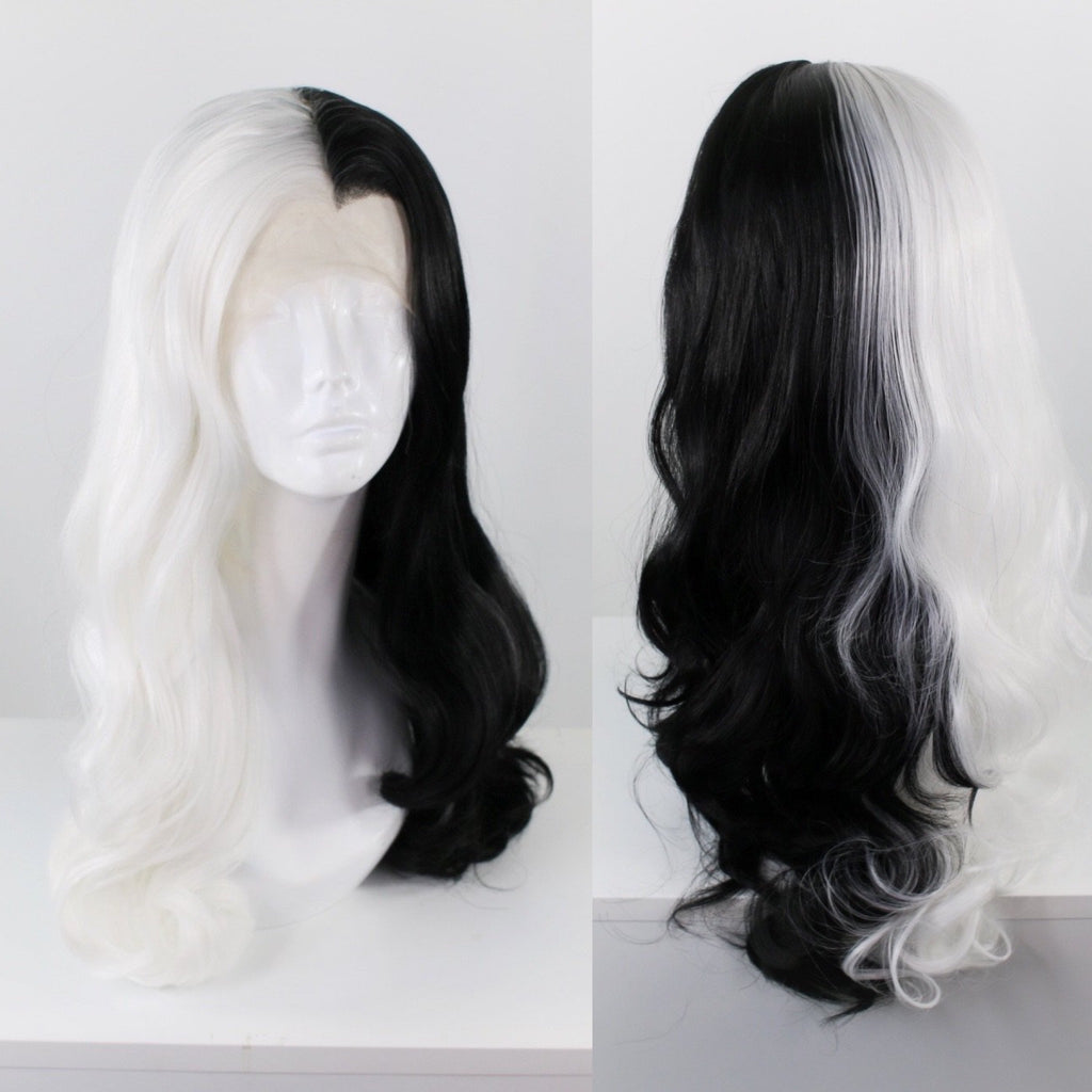 Bridgett Split Black & White Lace Front Wig