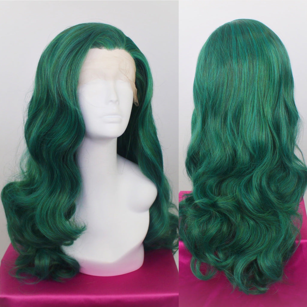 Evelyn Forest Green Lace Front Wig