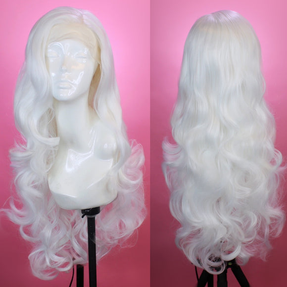 Evelyn White Lace Front Wig