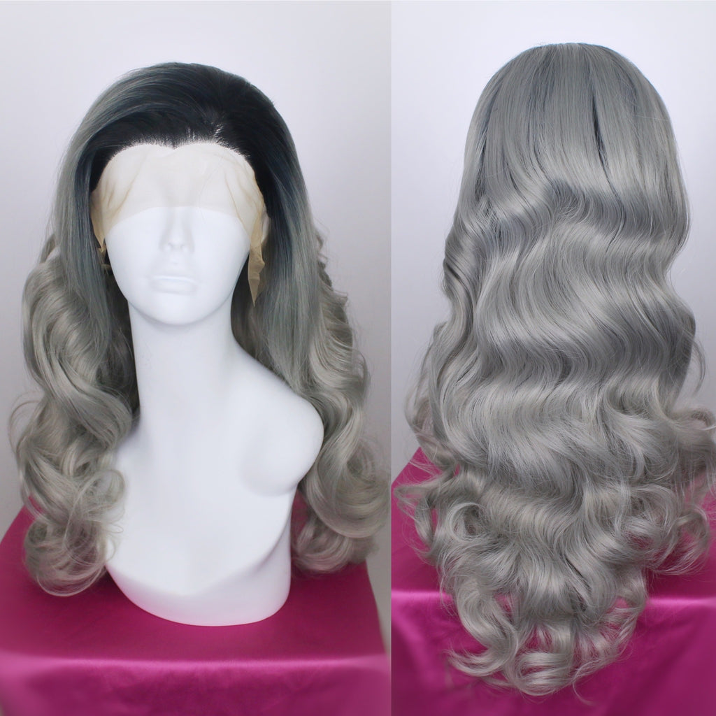 Bridgett Rooted Silver Lace Front Wig
