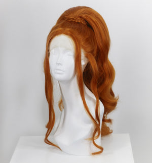 Bright Ginger Stacked Ponytail Wig