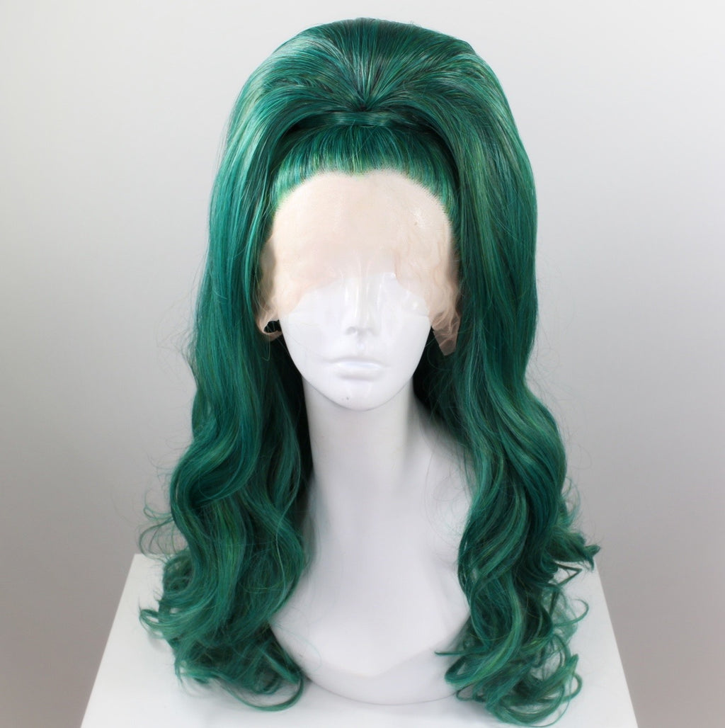 Forest Green Stacked Top Knot Wig