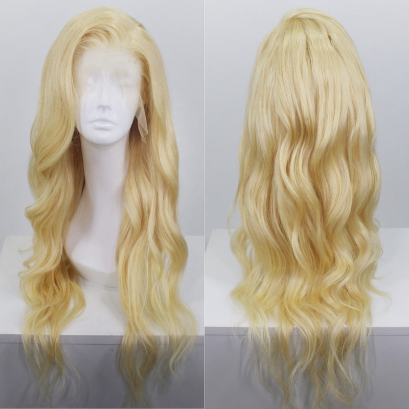 Platinum Blonde 613 Human Hair Lace Front Wig