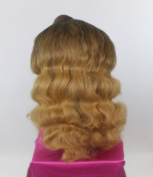 Brunette Ombré Finger Waves Custom Wig
