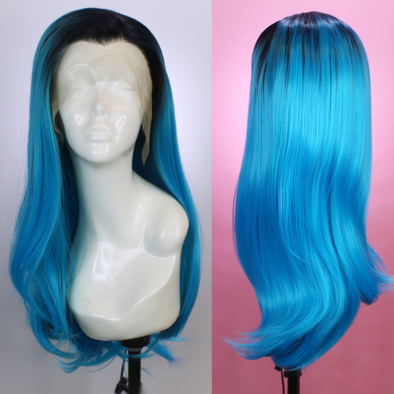 Charlotte Rooted Electric Blue Lace Front Wig