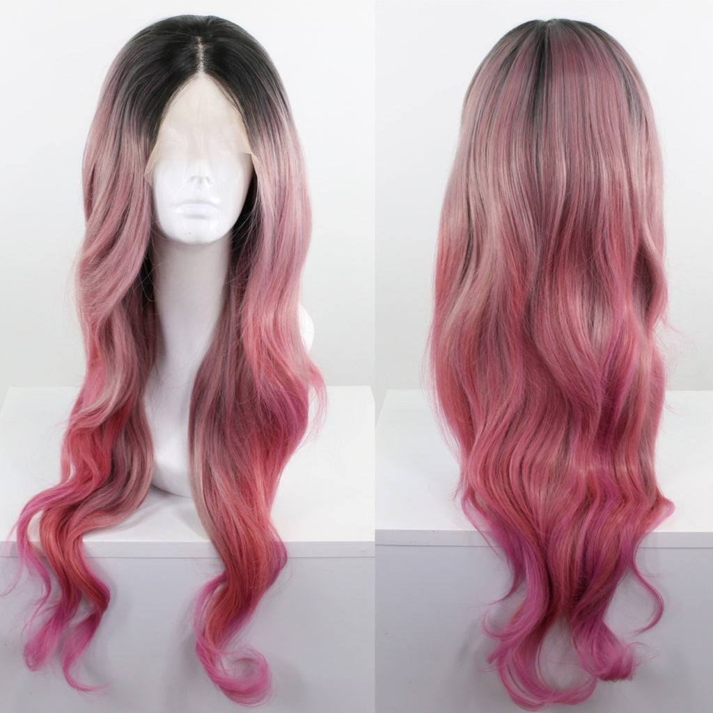 Stephanie Soft Pink Ombré Lace Front Wig