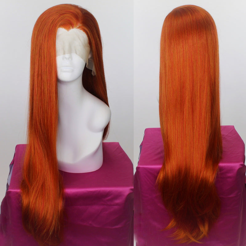 Anastasia Bright Ginger Lace Front Wig