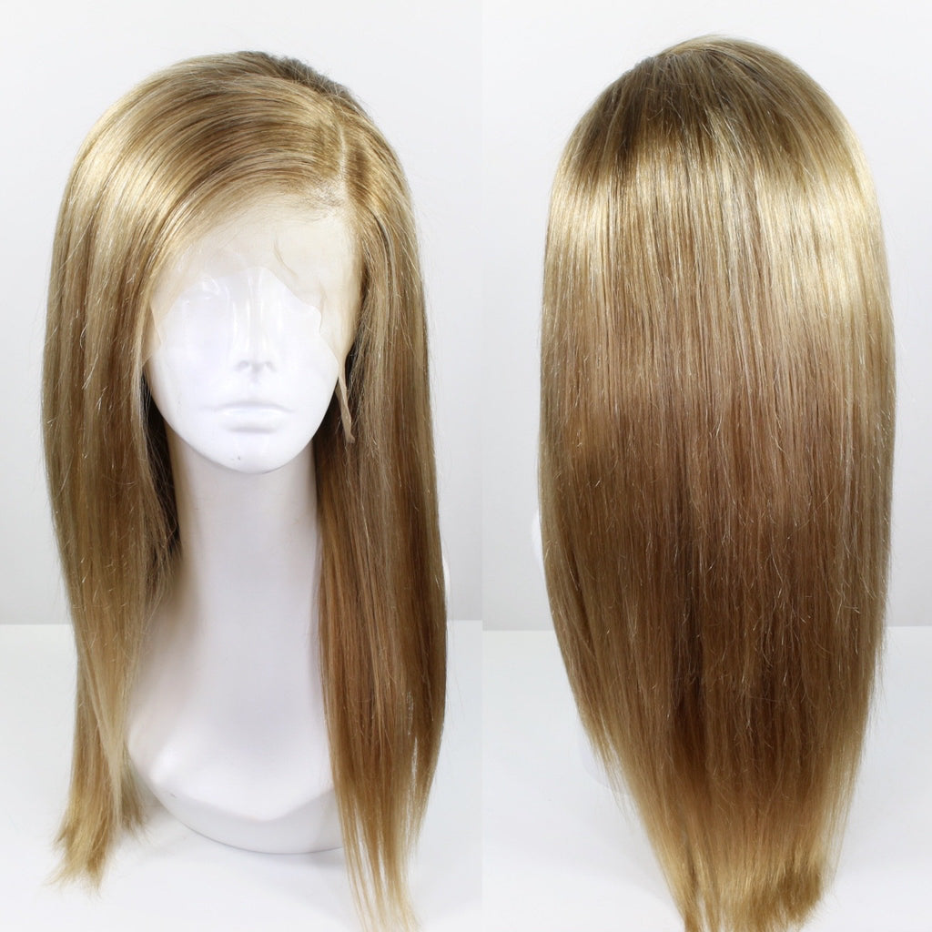 Natural Dirty Blonde Custom Dyed Human Hair Lace Front Wig