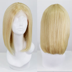 Platinum Blonde 613 Bob Human Hair Lace Front Wig