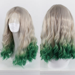 Clarissa Silver and Green Ombre Lace Front Wig