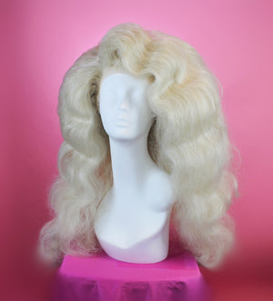 Deluxe Ash Blonde *250% Density* Finger Waves Wig