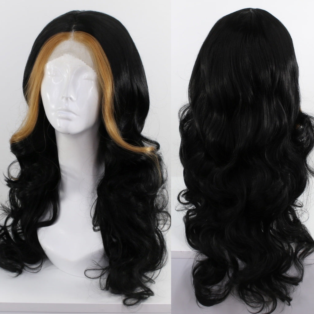 Demi Money Piece Black Lace Front Wig
