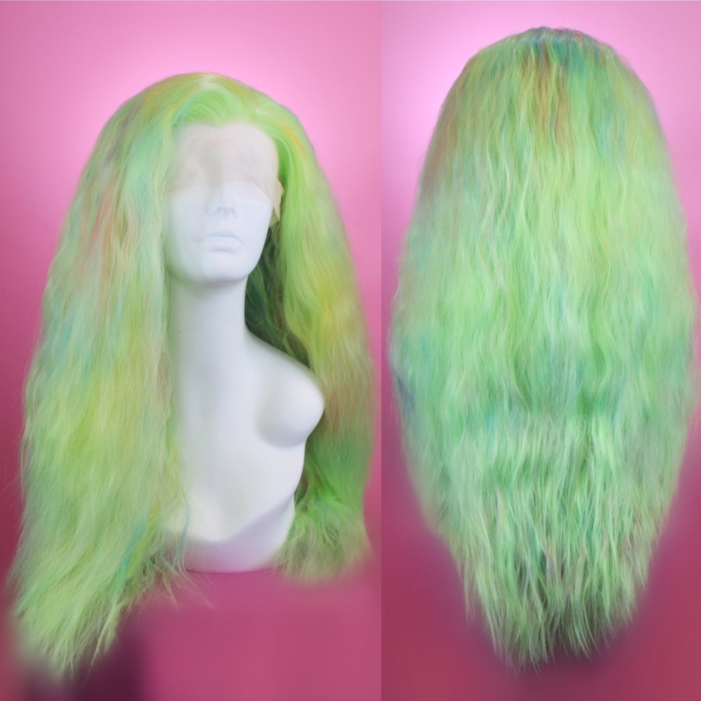 Jaclyn Green w/ Multicolor Accents Lace Front Wig