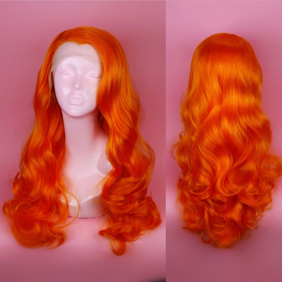 Bridgett Orange Lace Front Wig