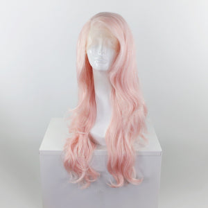 Rose Quartz Pink Tinsel Lace Front Wig