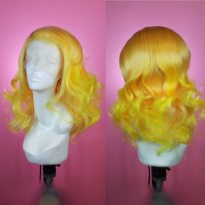 Sophia Yellow Ombre Lace Front Wig