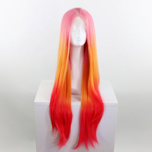 Donatella Pink & Orange Ombre Lace Front Wig