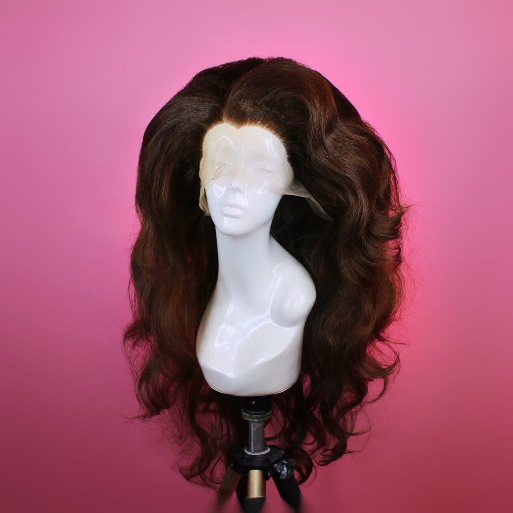 Brunette Big Loose Waves Wig