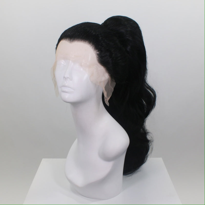 Black Stacked Ponytail Wig
