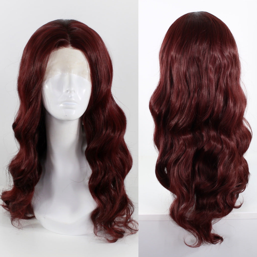 Demi Burgundy Lace Front Wig