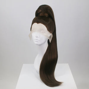 Brunette Extra Long Stacked Ponytail Wig