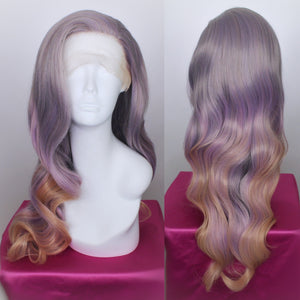 Stephanie Dusty Lavender and Peach Lace Front Wig