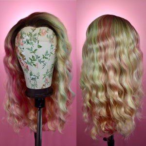 Harlow Rooted Blonde Rainbow Lace Front Wig