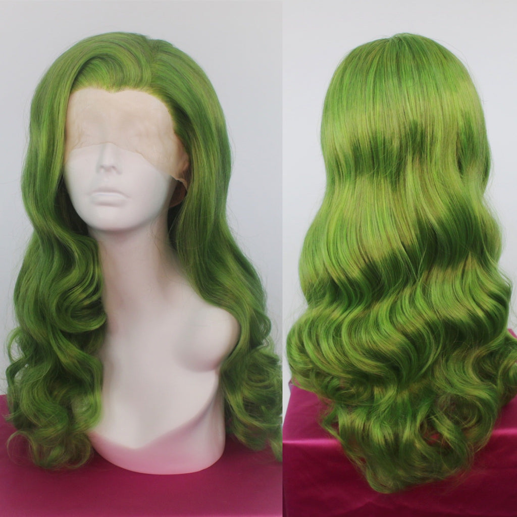 Bridgett Wicked Green Lace Front Wig