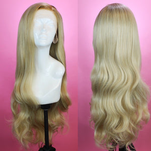 Stephanie Rooted Ash Blonde Lace Front Wig